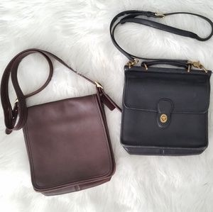 2 Coach Vintage Leather Crossbody Bags